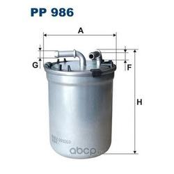 Фильтр топливный Filtron (Filtron) PP986