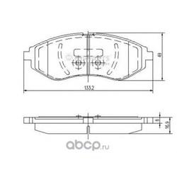 Комплект тормозных колодок, дисковый тормоз (Nipparts) J3600911