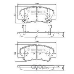 Комплект тормозных колодок, дисковый тормоз (Nipparts) N3600550