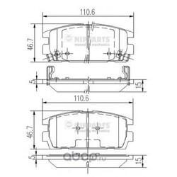 Комплект тормозных колодок, дисковый тормоз (Nipparts) J3610511