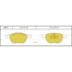 Колодки тормозные дисковые (Blitz) BB0321
