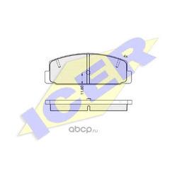 Комплект тормозных колодок, дисковый тормоз (Icer) 180785