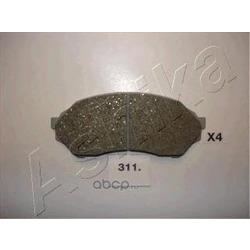 Комплект тормозных колодок, дисковый тормоз (Ashika) 5003311