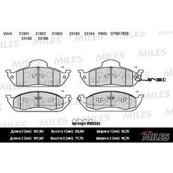 Колодки тормозные MERCEDES W163 ML230-ML430 передние (Miles) E100322