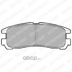 Комплект тормозных колодок, дисковый тормоз (Delphi) LP955