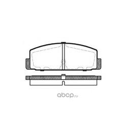Комплект тормозных колодок, дисковый тормоз (Remsa) 017930