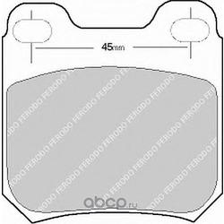 Комплект тормозных колодок, дисковый тормоз (Ferodo) FDB525