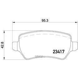 Комплект тормозных колодок, дисковый тормоз (Mintex) MDB2223