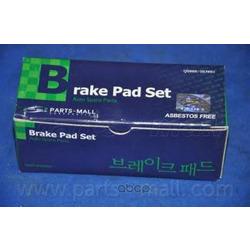 Комплект тормозных колодок (Parts-Mall) PKA027