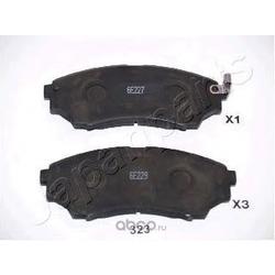 Колодки тормозные дисковые передние, комплект (Japanparts) PA323AF