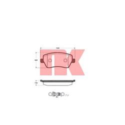 Комплект тормозных колодок, дисковый тормоз (Nk) 222258