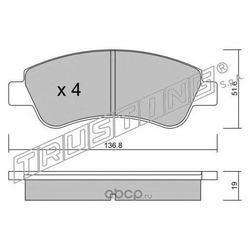 Комплект тормозных колодок, дисковый тормоз (Trusting) 3360