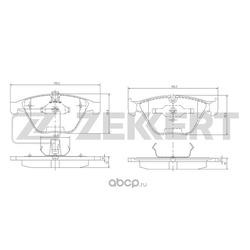 Колодки торм. диск. перед BMW 3 (E90 E91 E92 E93) 05- 5 (E60 E61) 03- (Zekkert) BS1163