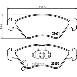 Комплект тормозных колодок, дисковый тормоз (Hella) 8DB355009931