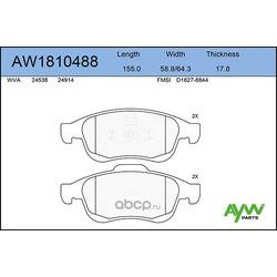 Колодки тормозные передние (AYWIparts) AW1810488