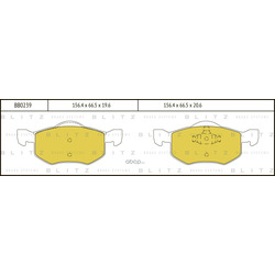 Колодки тормозные дисковые (Blitz) BB0239