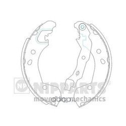Комплект тормозных колодок (Nipparts) J3501055