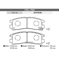 Комплект тормозных колодок, дисковый тормоз (FBL) AFP254S