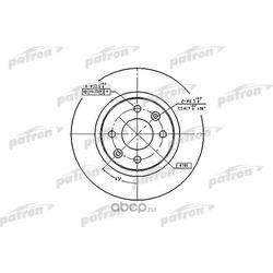 Диск тормозной передний (PATRON) PBD2586