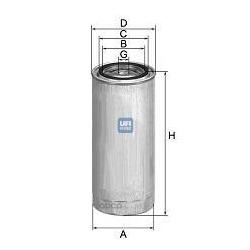 Топливный фильтр (UFI) 2434400