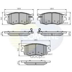 Комплект тормозных колодок, дисковый тормоз (Comline) CBP31519