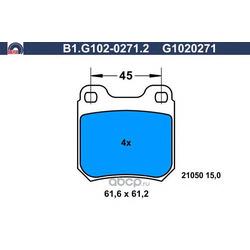 Комплект тормозных колодок (GALFER) B1G10202712