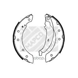 Комплект тормозных колодок (Mapco) 8128