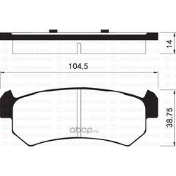 Колодки Chevrolet Lacetti R (Sangsin brake) SP1160