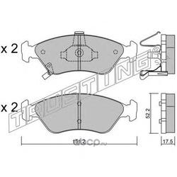 Комплект тормозных колодок, дисковый тормоз (Trusting) 3800