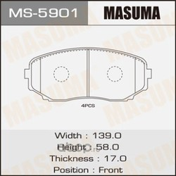 Колодки тормозные (Masuma) MS5901