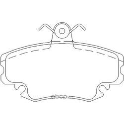 Комплект тормозных колодок, дисковый тормоз (Mintex) MDB1628