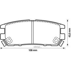 Комплект тормозных колодок, дисковый тормоз (Jurid) 572200J