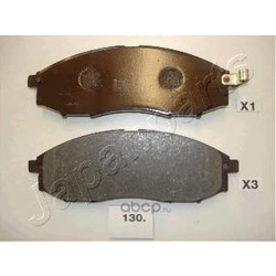 Комплект тормозных колодок, дисковый тормоз (Japanparts) PA130AF