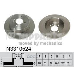 Тормозной диск (Nipparts) N3310524