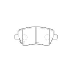 Колодки тормозные дисковые (FIT) FP1491