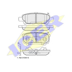 Комплект тормозных колодок, дисковый тормоз (Icer) 181746
