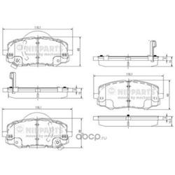 Комплект тормозных колодок (Nipparts) N3600552