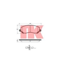Колодки тормозные дисковые, комплект (Nk) 223028