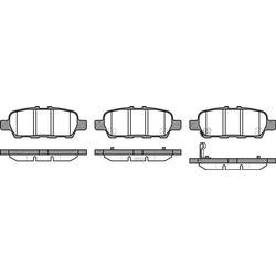 Комплект тормозных колодок, дисковый тормоз (Remsa) 087631