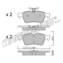Комплект тормозных колодок, дисковый тормоз (Trusting) 3461