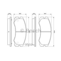 Колодки тормозные дисковые, комплект (Bosch) 0986424366