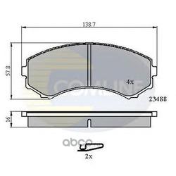 Комплект тормозных колодок, дисковый тормоз (Comline) CBP3172