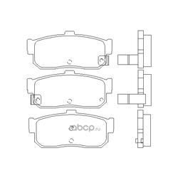 Колодки тормозные дисковые c датчиком изноза, комплект (Kashiyama) D1148M