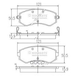 Комплект тормозных колодок, дисковый тормоз (Nipparts) J3601060