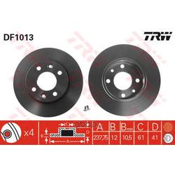 Тормозной диск (TRW/Lucas) DF1013