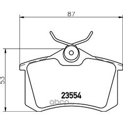 Комплект тормозных колодок, дисковый тормоз (Hella) 8DB355019911