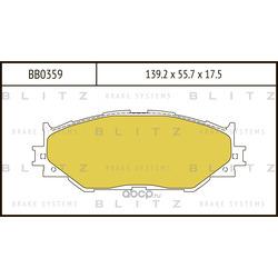Колодки тормозные дисковые (Blitz) BB0359
