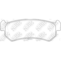 Колодки тормозные дисковые (NiBK) PN0376