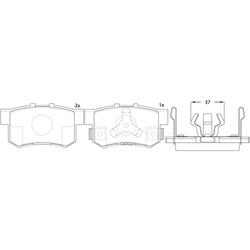 Колодки тормозные дисковые (FIT) FP1086