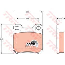 """Колодки тормозные дисковые, комплект """"COTEC (TRW/Lucas) GDB915"""